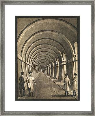 Thames Tunnel Framed Print by Middle Temple Library