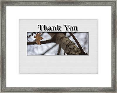 Thank You Card - Saving The Last Moment Framed Print by Becca Buecher