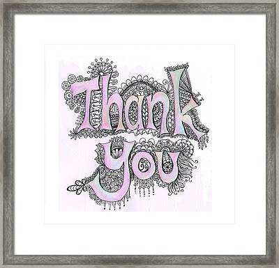 Thank You Framed Print by Cherie Sexsmith