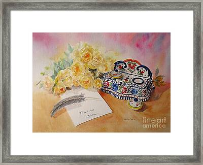 Thank You From Beatrice Framed Print by Beatrice Cloake