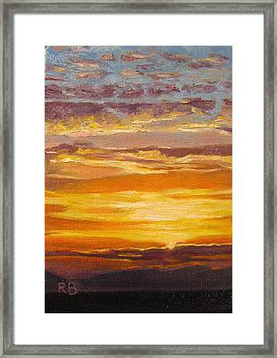 Thank You Lord For Another Great Day Framed Print by Robie Benve