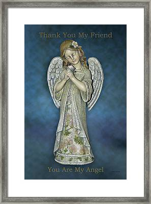 Thank You My Angel Framed Print by Thomas Woolworth