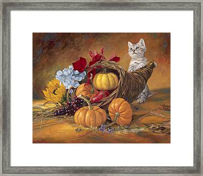 Thankful Framed Print by Lucie Bilodeau