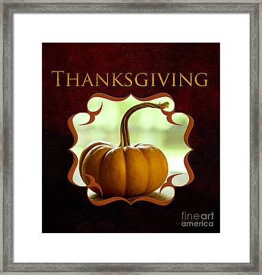 Thanksgiving Gallery Framed Print by Iris Richardson
