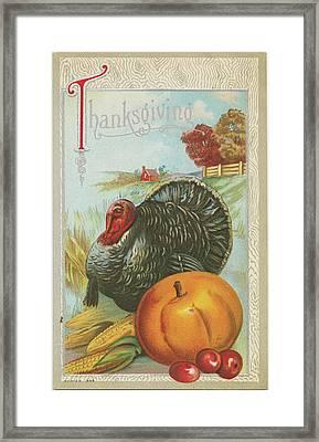 Thanksgiving Postcards I Framed Print by Wild Apple Portfolio