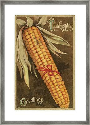 Thanksgiving Postcards II Framed Print by Wild Apple Portfolio