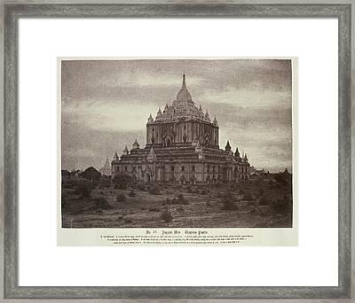 Thapinyu Pagoda Framed Print by British Library