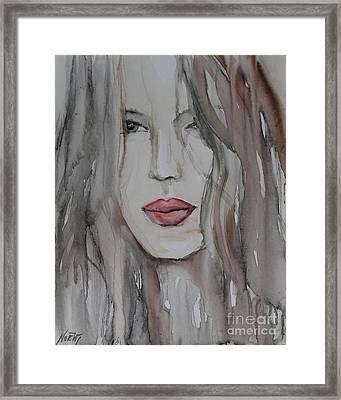 That Lips Framed Print by Jindra Noewi