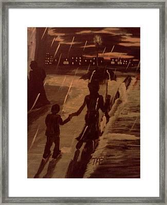 That  Rainy Night  Framed Print by Renee McKnight