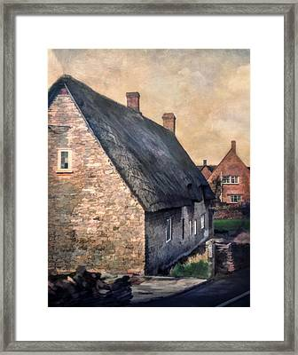 Thatch Roof Cottage Framed Print by David and Carol Kelly