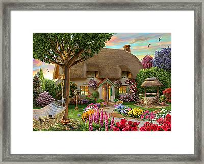 Thatched Cottage Framed Print by Adrian Chesterman
