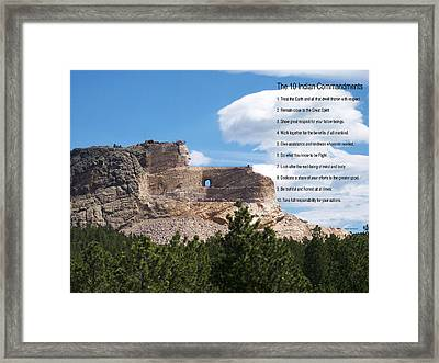 The 10 Indian Commandments Framed Print by Thomas Woolworth