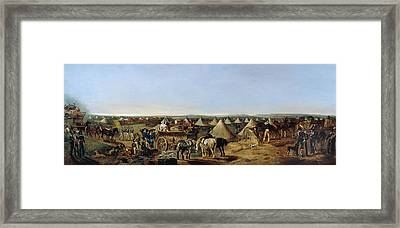 The 10th Regiment Of Dragoons Arriving Framed Print by A.E. Eglington