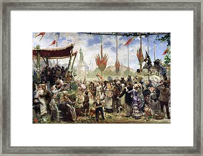 The 14th July 1880, 1882 Oil On Canvas Framed Print by Alfred Roll