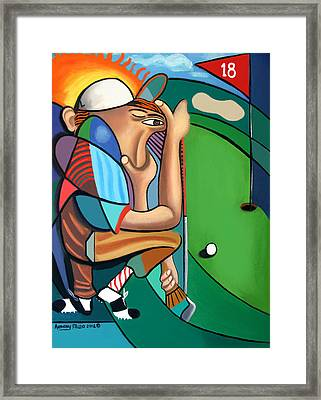 The 18th Hole Framed Print by Anthony Falbo