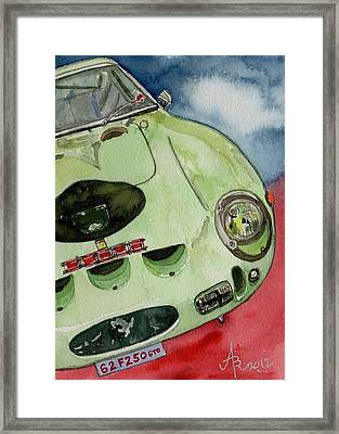 The 1962 Ferrari 250 Gto Was Built For Sir Stirling Moss Framed Print by Anna Ruzsan
