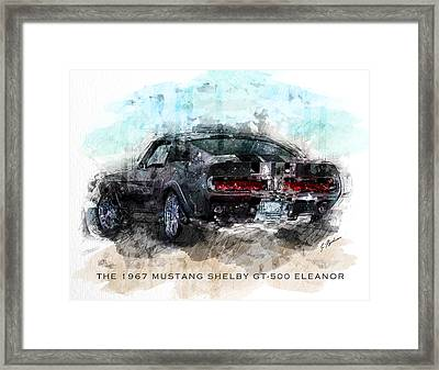 The 1967 Shelby Gt-500 Eleanor Framed Print by Gary Bodnar