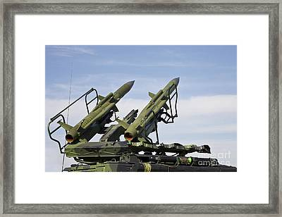 The 2k12 Kub Mobile Surface-to-air Framed Print by Timm Ziegenthaler