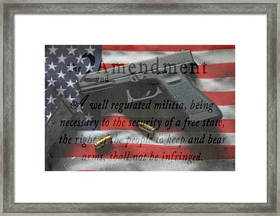 The 2nd Amendment Framed Print by Dan Sproul