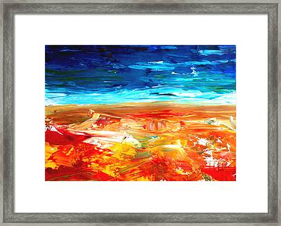 The Abstract Rainbow Beach Series II Framed Print by M Bleichner