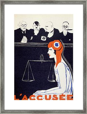 The Accused Framed Print by Paul Iribe