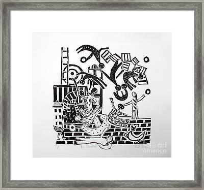 The Acrobats Framed Print by Barbara Sala