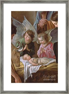 The Adoration Framed Print by Le Nain
