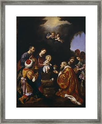 The Adoration Of The Magi Framed Print by Carlo Dolci