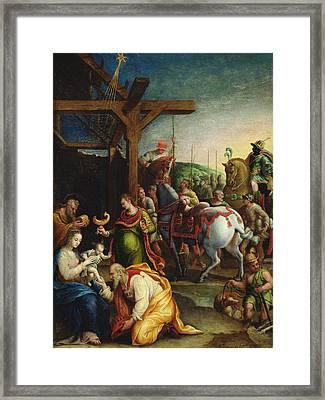 The Adoration Of The Magi Framed Print by Lavinia Fontana