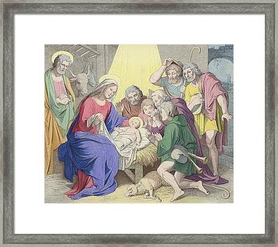 The Adoration Of The Shepherds Framed Print by German School