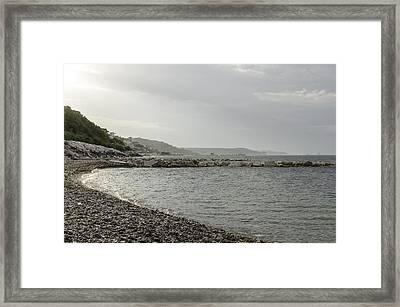 The Adriatic Sea In Abruzzo Framed Print by Andrea Mazzocchetti