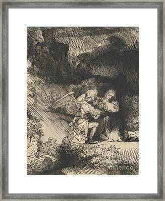 The Agony In The Garden Framed Print by Rembrandt