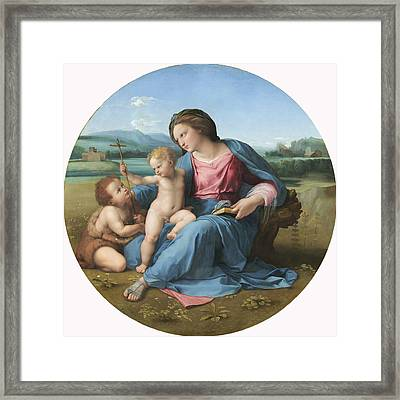 The Alba Madonna Framed Print by Raffaello Sanzio of Urbino