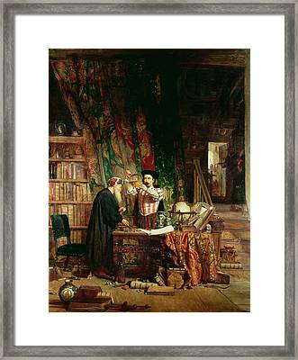 The Alchemist, 1853 Framed Print by William Fettes Douglas