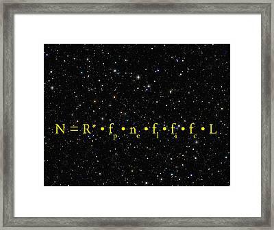 The Alien Equation - Scientific Estimate Of Techno Alien Civilizations Framed Print by Daniel Hagerman