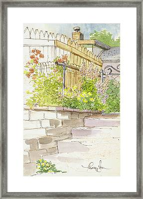 The Alley Stairway Framed Print by Tracie Thompson