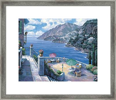 The Amalfi Coast Framed Print by John Zaccheo