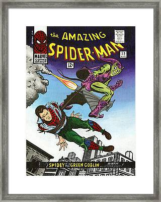 The Amazing Spider-man 39 Framed Print by Steve Benton