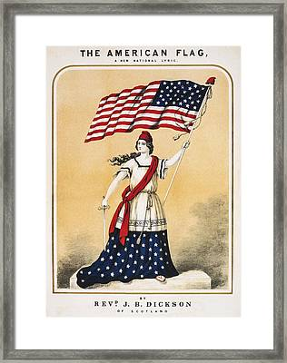 The American Flag A New National Lyric Framed Print by Aged Pixel