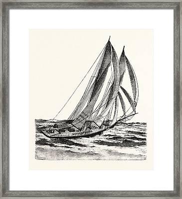 The American Schooner Dauntless Framed Print by English School