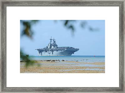 The Amphibious Assault Ship Uss Boxer  Framed Print by Paul Fearn