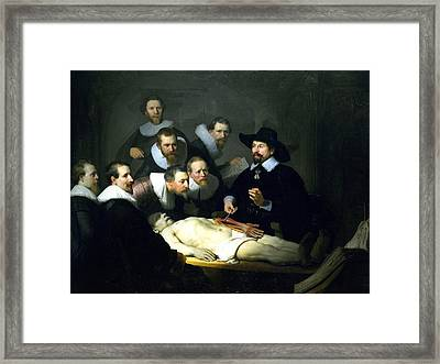 The Anatomy Lesson Framed Print by Rembrandt