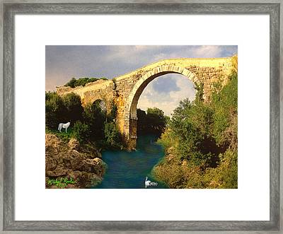 The Ancient Bridge Framed Print by Michael Rucker