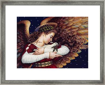 The Angel And The Dove Framed Print by Lynn Bywaters