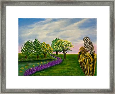 The Angel And The Owl Framed Print by Susan Culver