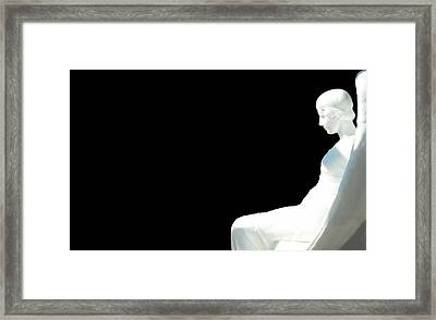 The Angel In The Room Framed Print by Toppart Sweden