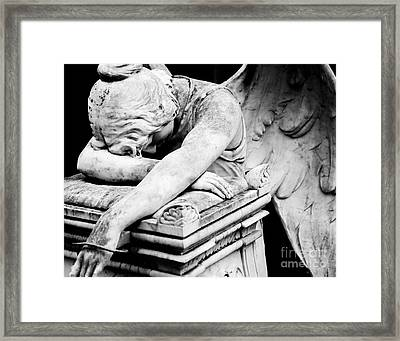 The Angel Weeps Framed Print by Sonja Quintero