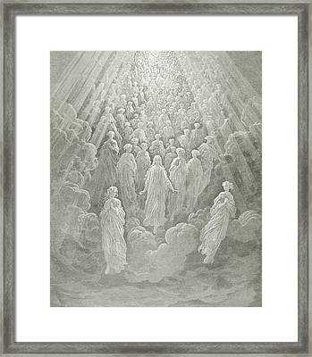 The Angels In The Planet Mercury Framed Print by Gustave Dore