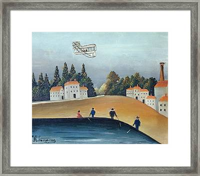 The Anglers, C.1908-09 Oil On Canvas Also See 309520 Framed Print by Henri J.F. Rousseau
