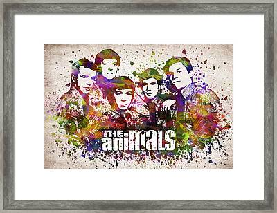 The Animals In Color Framed Print by Aged Pixel